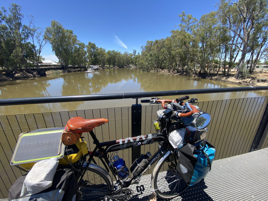 At the bridge on Thule Street, crossing the Murray between Koondrook on the Victorian side and Barham on the NSW